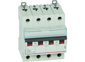 Disjoncteur Dx3 4p C20 6000A/10KA