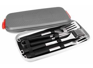 Mallette 4 accessoires acier inoxydable