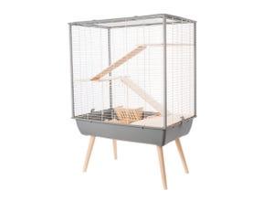 Cage Néo cosy rongeur - L 77,5xp47,5xh109cm - Gris