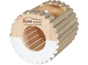 Maison rongeur ronde rondin - M - Blanc