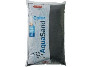 Sable décoratif pour aquarium - noir ébène - 12kg