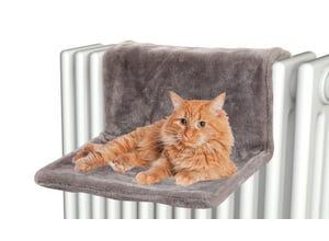 Hamac chat pour radiateur -  L44xp42xh22cm - gris