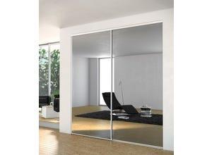 Porte recoupable 1P 61,4 cm miroir blanc