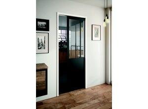 Porte Factory Manhattan noir/verre clair 83cm