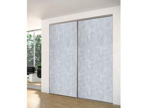 Porte recoupable 1P 61,4 cm bois cimente gris