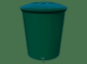 Cuve à eau cylindrique 310L vert avec couvercle et robinet