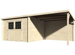 Abri EDEN toit plat 28 MM 600x300 avec appenti