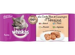 Boîtes en terrine 4 variétés pour chat - 4x400g