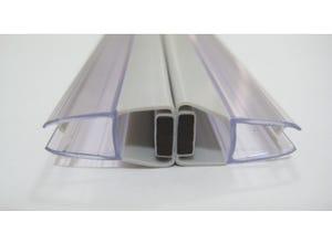 Paire de joints magnétiques droits pour paroi 5mm