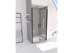 Porte de douche 80 saloon profile noir mat