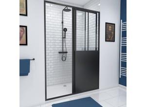 Porte de douche 140 coulissante fabrik