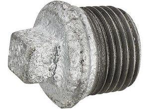Bouchon galva tête carrée Mâle M26x34