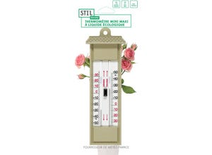Thermomètre mini-maxi - plastique sable