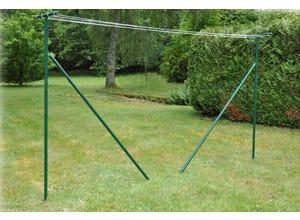 Séchoir de jardin avec fil à linge