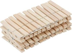 36 pinces à linge en bois traditionnel