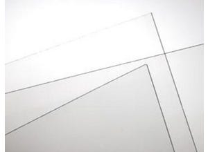 Plaque lisse 5 mm transparente 0,5 m x 1m ELYGLASS-IN