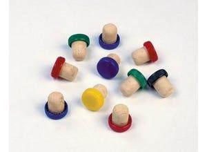 10 Bouchons liège tête plastique