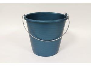 Seau industriel 10 L bleu gradué anse fil