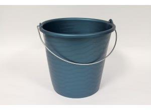 Seau industriel 12 L bleu gradué anse fil