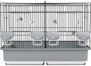 Cage élevage pour oiseaux domestiques 57x31x41cm