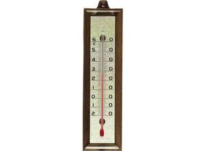 Thermomètre imitation bois 16cm