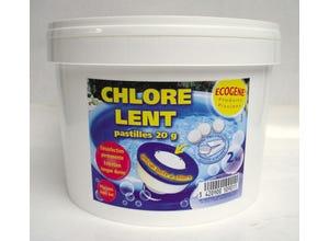 Chlore pastilles 20g special boîte à chlore 2kg