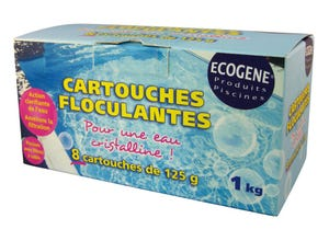 Cartouches floculantes (8*125g) - Boîte de 1kg