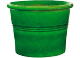 Cilindro 18 cm émail vert