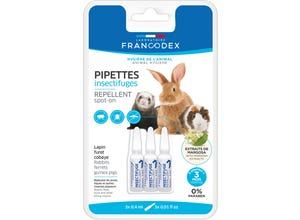 Pipette insectifuge lapin, furet, cobaye x3