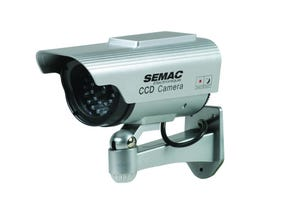 Caméra FACTICE ext. solaire - infrarouge et voyant LED