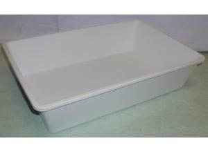 Bac plat multi-usages 20L blanc