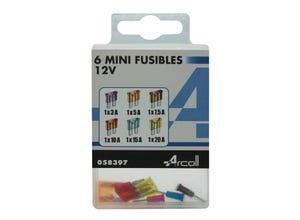 6 Mini Fusibles assortis