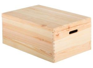 Caisse en bois avec couvercle 23x60x40