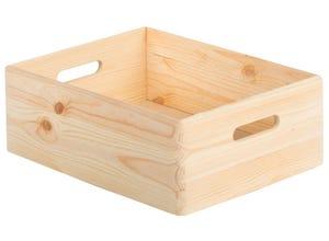 Caisse en bois avec couvercle 14x30x40cm