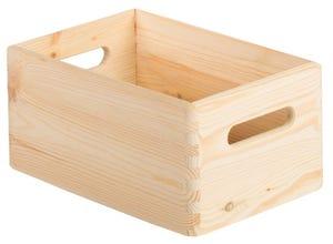 Caisse en bois avec couvercle 14x30x20cm