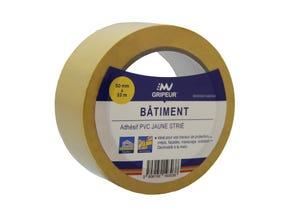 Ruban adhésif PVC jaune strié