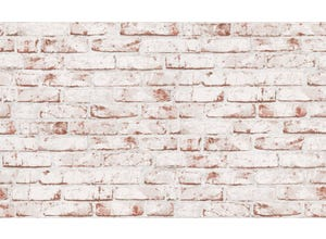 Expansé sur intissé briques blanc/brique