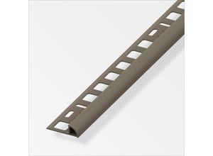 Arrêt carrelage 1/4 rd 8 mm PVC taupe 2,5 m