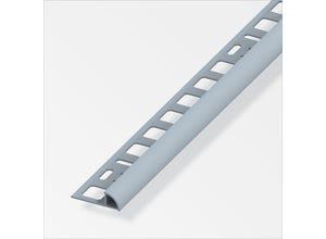 Arrêt carrelage 1/4 rd 8 mm PVC gris 2,5 m