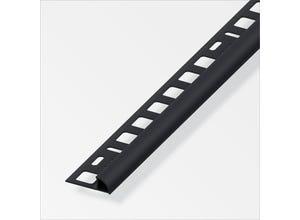 Arrêt carrelage 1/4 rd 8 mm PVC noir 2,5 m