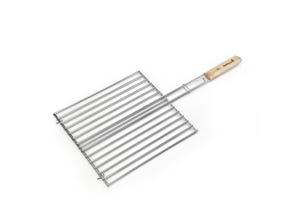 Grille double rectangulaire avec manche en bois