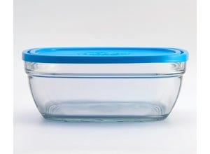 Freshbox Carré avec Couvercle Bleu 14cm