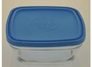 Freshbox Carré avec Couvercle Bleu 17cm