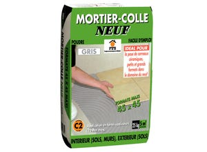 Mortier colle gris supports neufs PRB