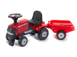 Porteur tracteur baby CVX120 case IH avec remorque
