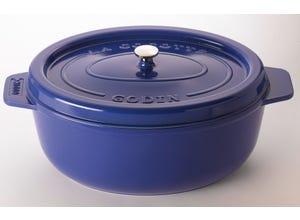 Cocotte ovale 36 cm - 8 L bleu