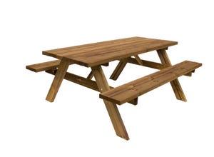 Table forestière 177x154xh74 cm