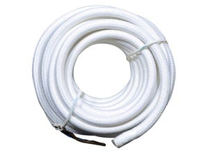 Câble tissu blanc 2 x 0,75 mm² 4 M