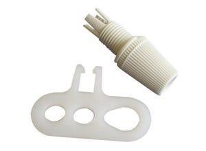 Chape suspension + serre-câble mâle 10 x 1
