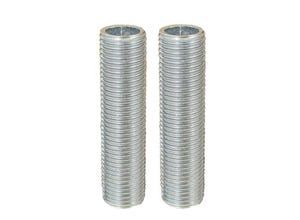 2 tubulures acier 10 x 1 Ø10 mm L.40 mm
